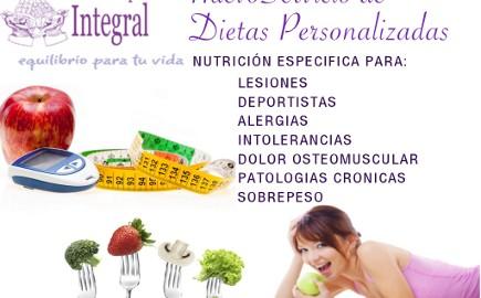 Nuevo servicio de dietas personalizadas